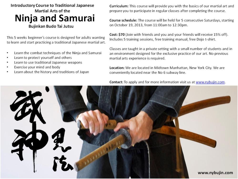 Bujinkan Intro Course October 2013
